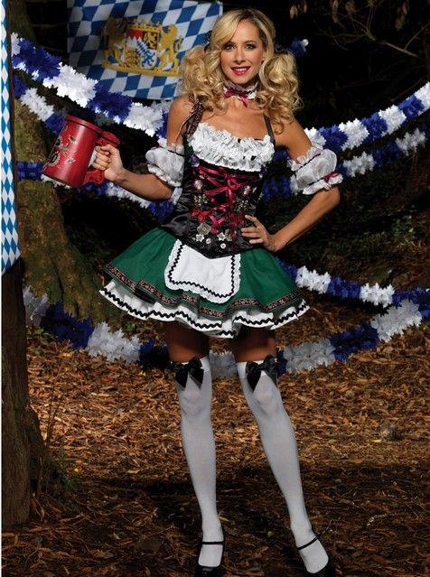 Deluxe Tysk Tyroler Kostume Til Kvinder