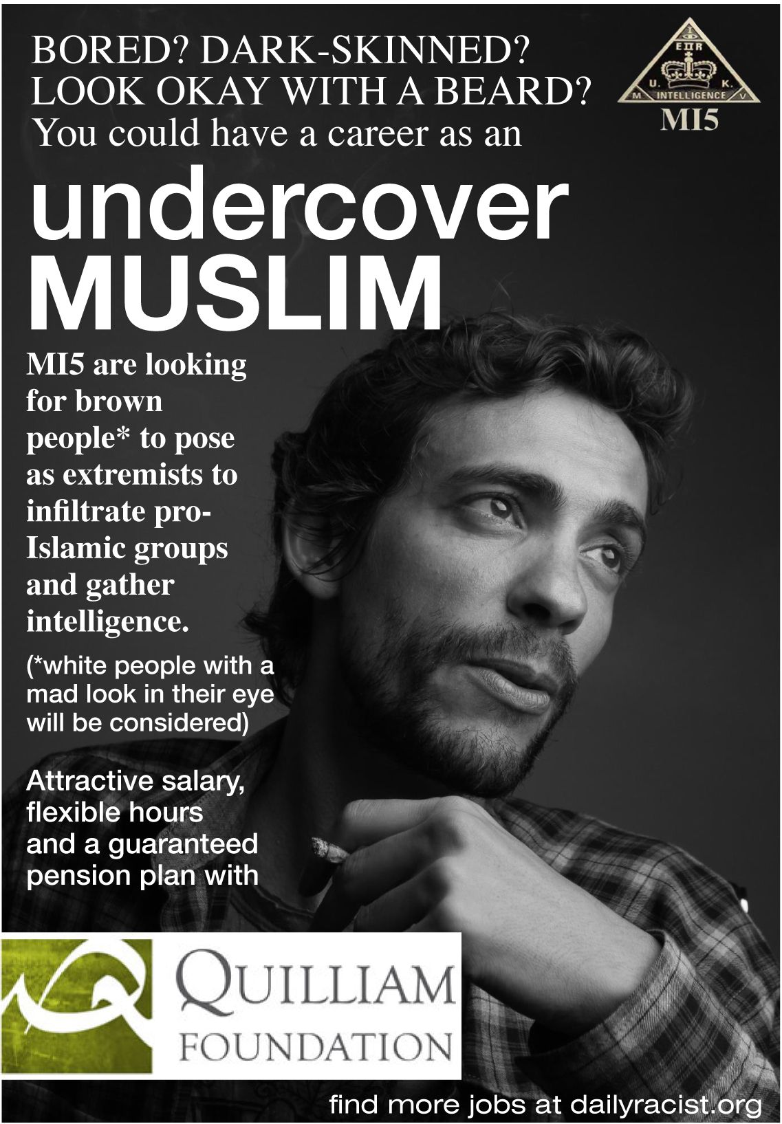 Become an Undercover Muslim More jobs at www.dailyracist.org