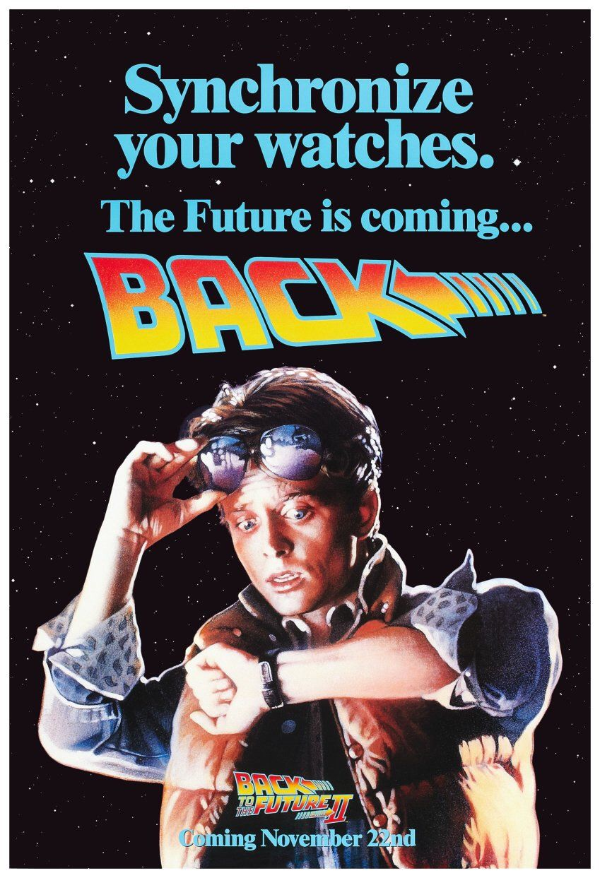 Back To The Future Ii Reproduction 24 X 36 Promotional Poster