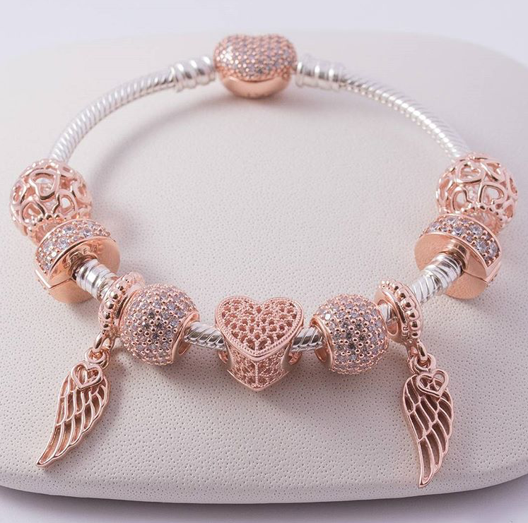 43dd51a71 Pandora rose gold charm inspo | Accessories/Jewelry in 2019 ...
