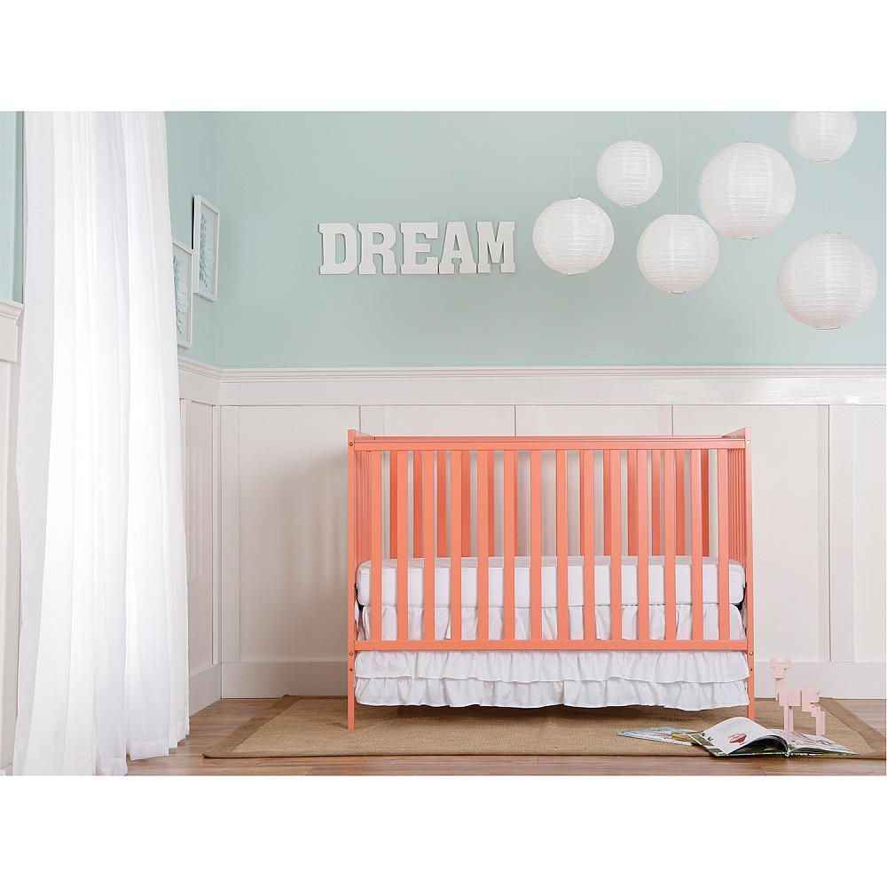Dream On Me Synergy 5 In 1 Convertible Crib Coral Cribs Convertible Crib Dream On Me
