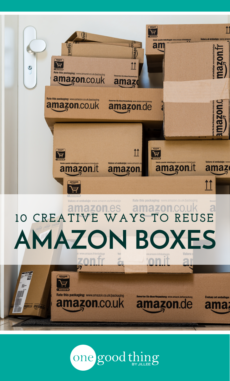 Here Are 10 Creative Ways To Re Use Your Old Amazon Boxes Cardboard Box Diy Shoe Box Crafts Amazon Box