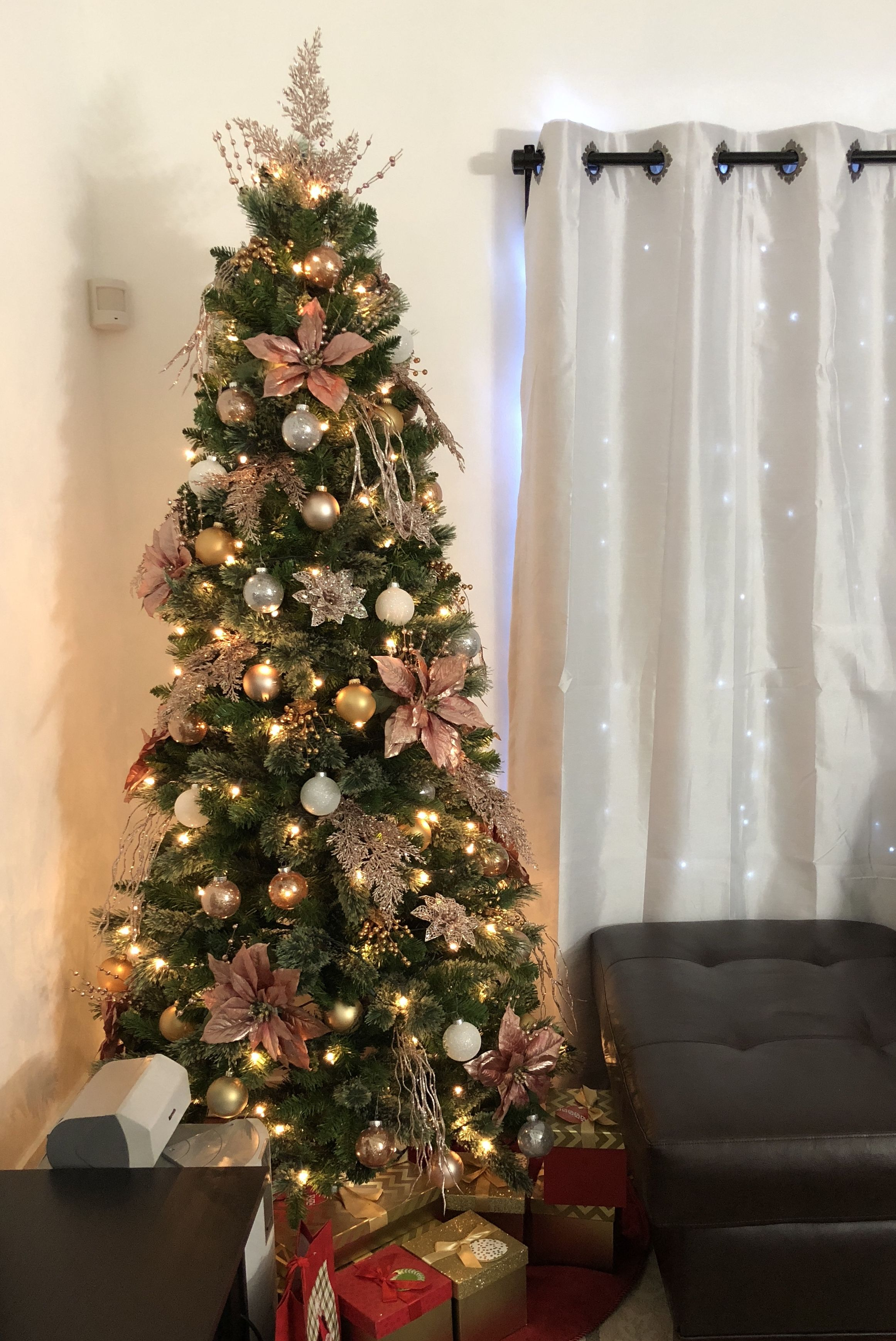 2017 Rosegold Christmas Tree Decoration | Christmas tree ...