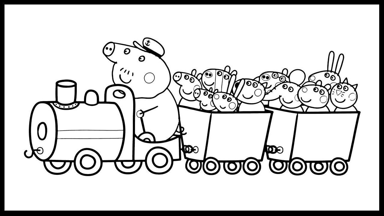 Peppa And Her Friends In Grandpa S Little Train Coloring Book Coloring Pages For Kids Ausmalbilder Zum Ausdrucken Ausmalbilder Malbuch Vorlagen