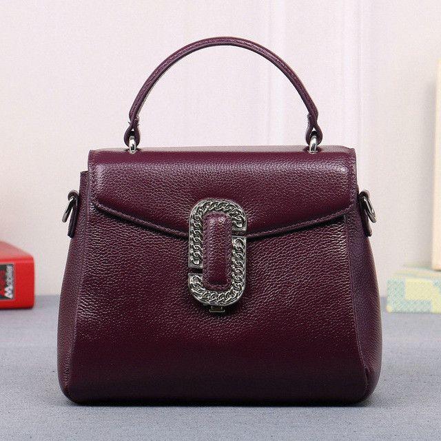 bc18fe5e111d Spring New First Layer Of Leather Shoulder Messenger Female Bag Korean  Fashion Trend Envelope Bag