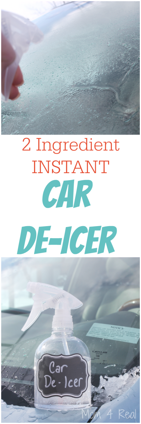 2 Ingredient Homemade Car De Icer Spray Removes Ice In Seconds Mom 4 Real Cleaning Hacks Car Cleaning Household Hacks