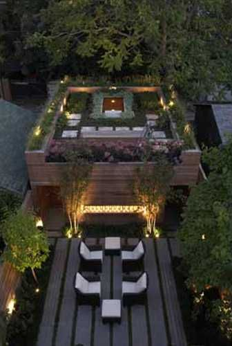 Rooftop Garden and Small Pond Romanticize House Design by Cecconi Simone
