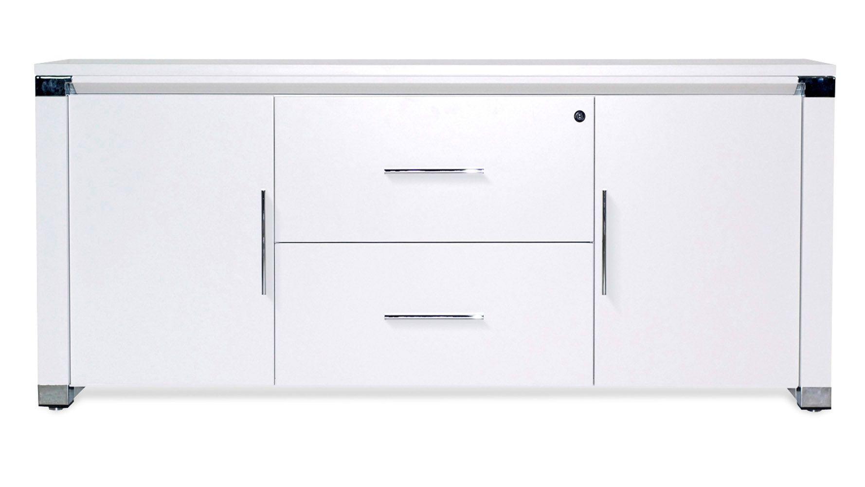 White Delano Credenza Unique Furniture Office Storage Cabinets Storage Credenza