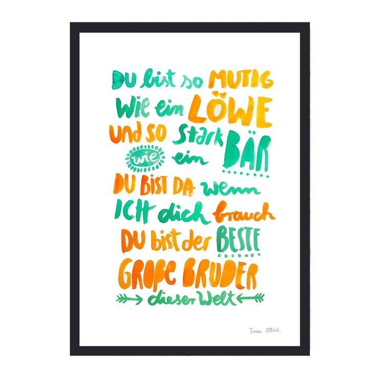 Print Grosser Bruder Spruch Bruder Spruche Geschenk Fur
