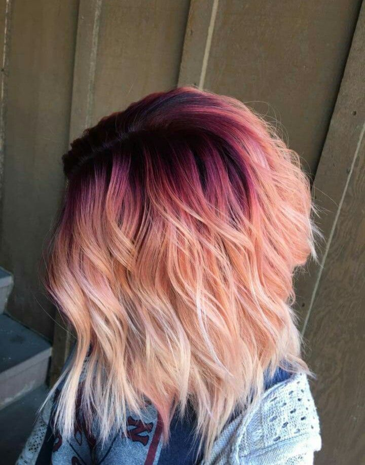 Pink hard with dark roots | Roots hair Hair inspiration ...