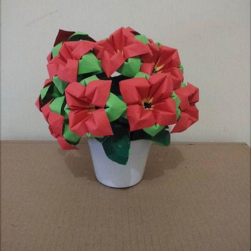 Origami 4 petalsady origamiflowers origami pinterest origami 4 petalsady origamiflowers mightylinksfo Images