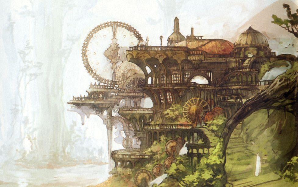 Final fantasy environment concept art google search for Final fantasy 8 architecture