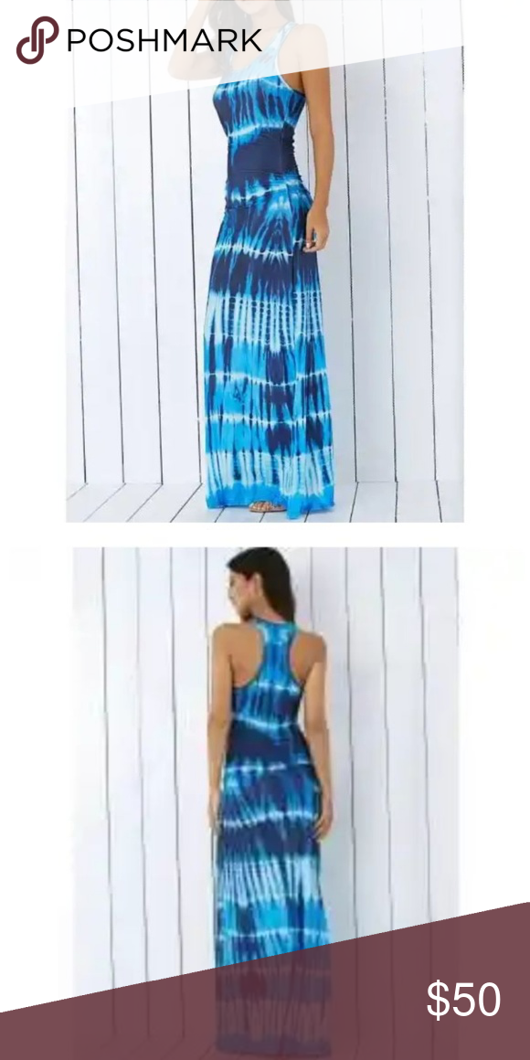 b985385f70 Summer Dress Bohemian Tie-Dye Illusion Print Racer Summer Dress Bohemian Tie -Dye Illusion Print Racerback Long Tank Dress other Dresses Maxi