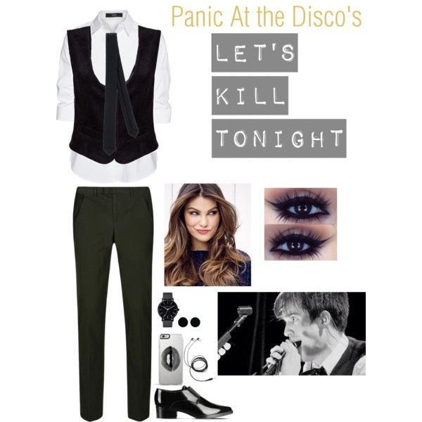 Panic At The Disco by miahallows on Polyvore featuring polyvore, fashion, style, Steffen Schraut, DKNY, STELLA McCARTNEY, The Horse, AeraVida, Patrizia Pepe, Lipsy and ULTA