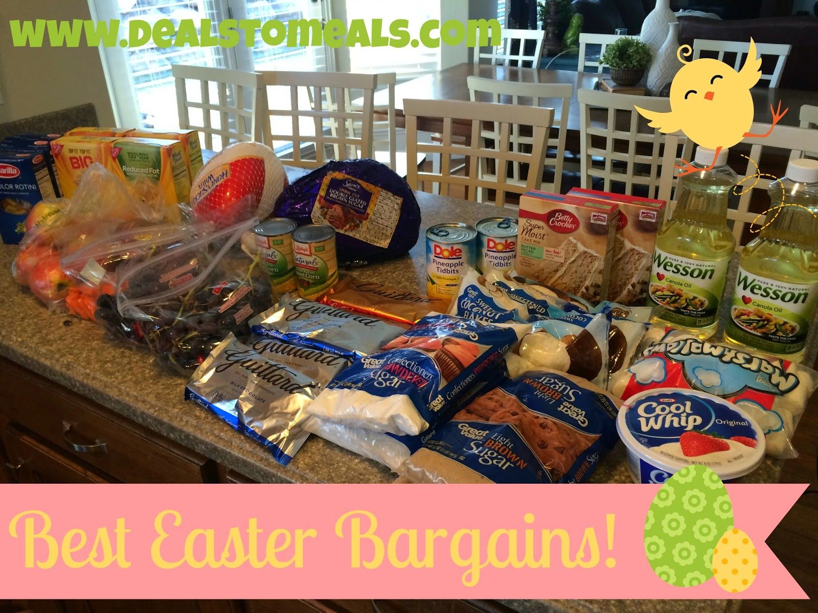 Amazing easter grocery dealsan easter feast for under