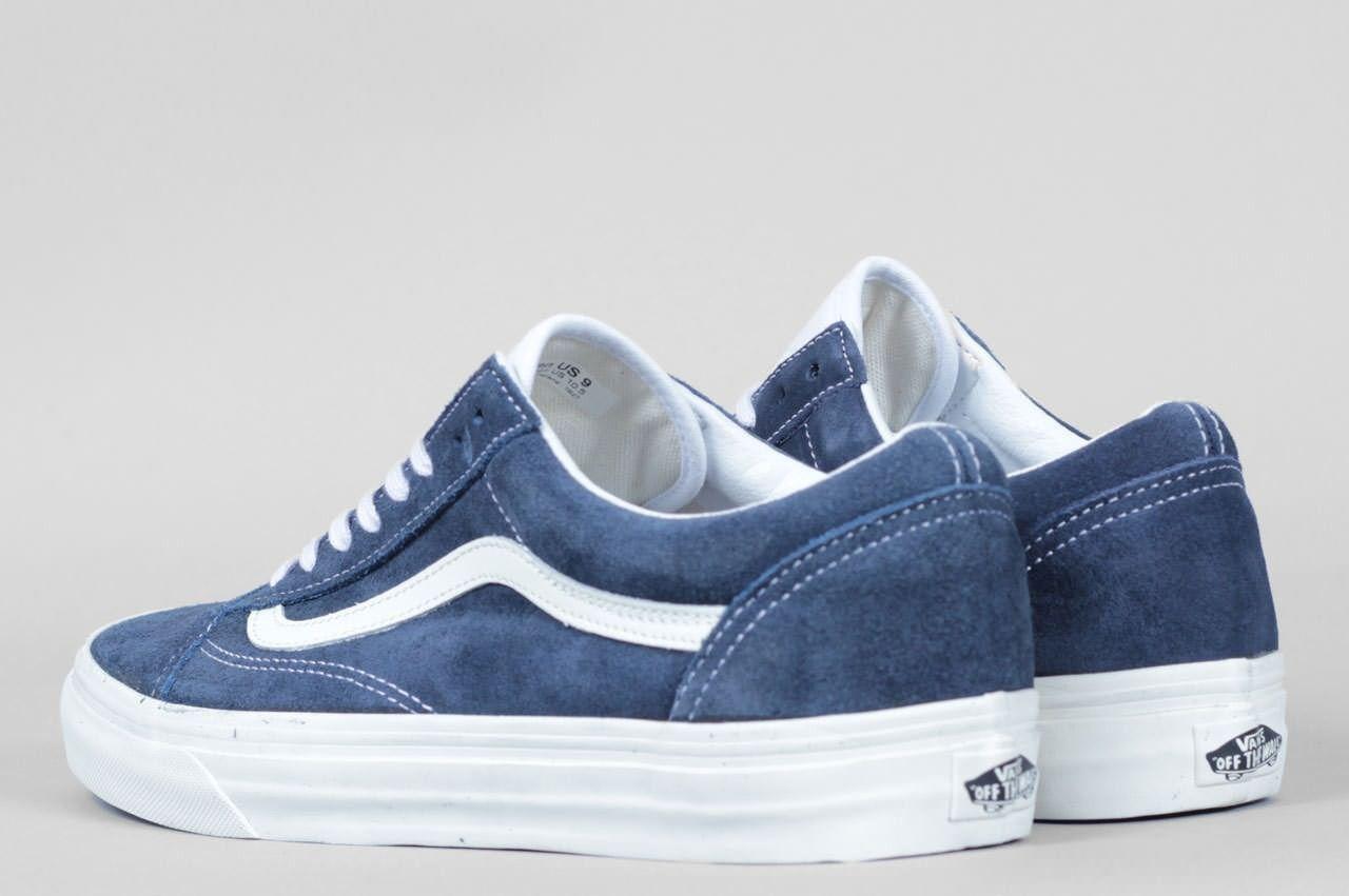 vans old skool dress blue suede