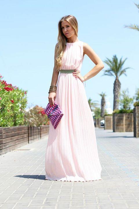 vestido rosa palo largo | peinados | pinterest | dresses, clothes
