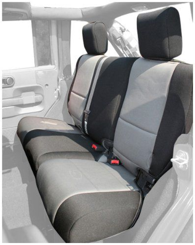 Rugged Ridge 1326409 Black Grey Custom Neoprene Rear