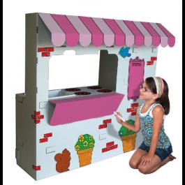 Kitchen Café Cardboard Playset   Play houses, Cardboard box crafts, Cardboard playhouse