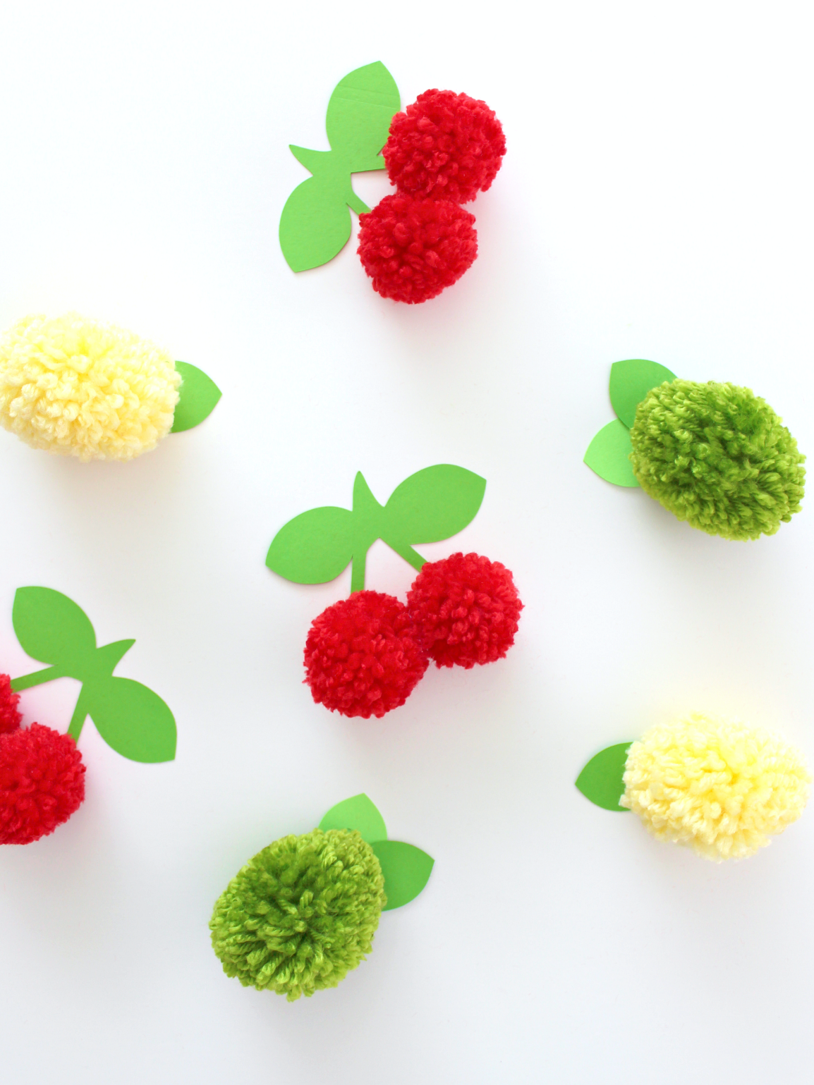 pom pom fruit gift toppers