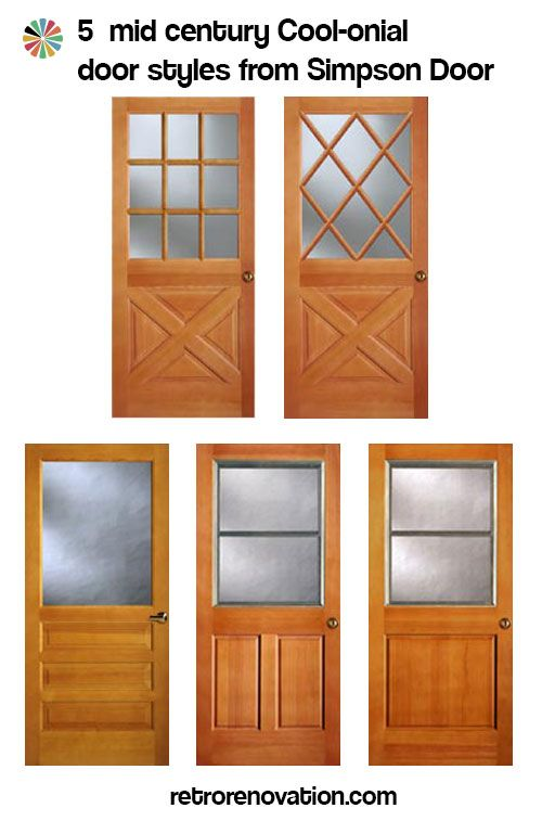 Colonial-mid-century-doors. Wish these doors were less expensive so I could use the one on the bottom left for our interior laundry-room door.  sc 1 st  Pinterest & Colonial style front doors for mid century houses - Five styles ...