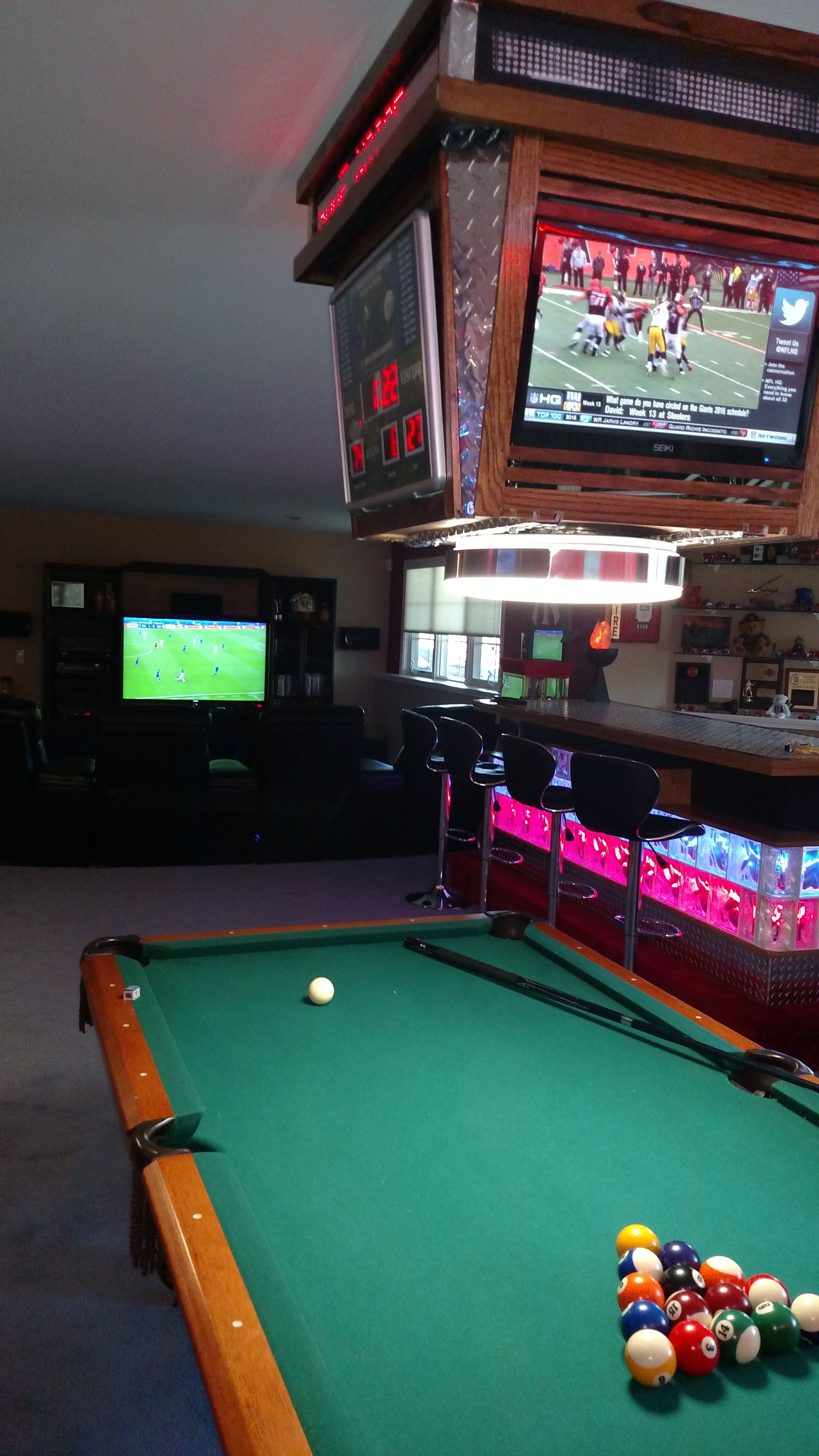 Great Pool Table Light With Lighted Bar Man Cave Home Bar Pool