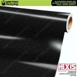 Gloss Catechu Black Glitter Hexis Vinyl Wrap Metro Restyling Glitter Vinyl Vinyl Wrap Black Sparkle