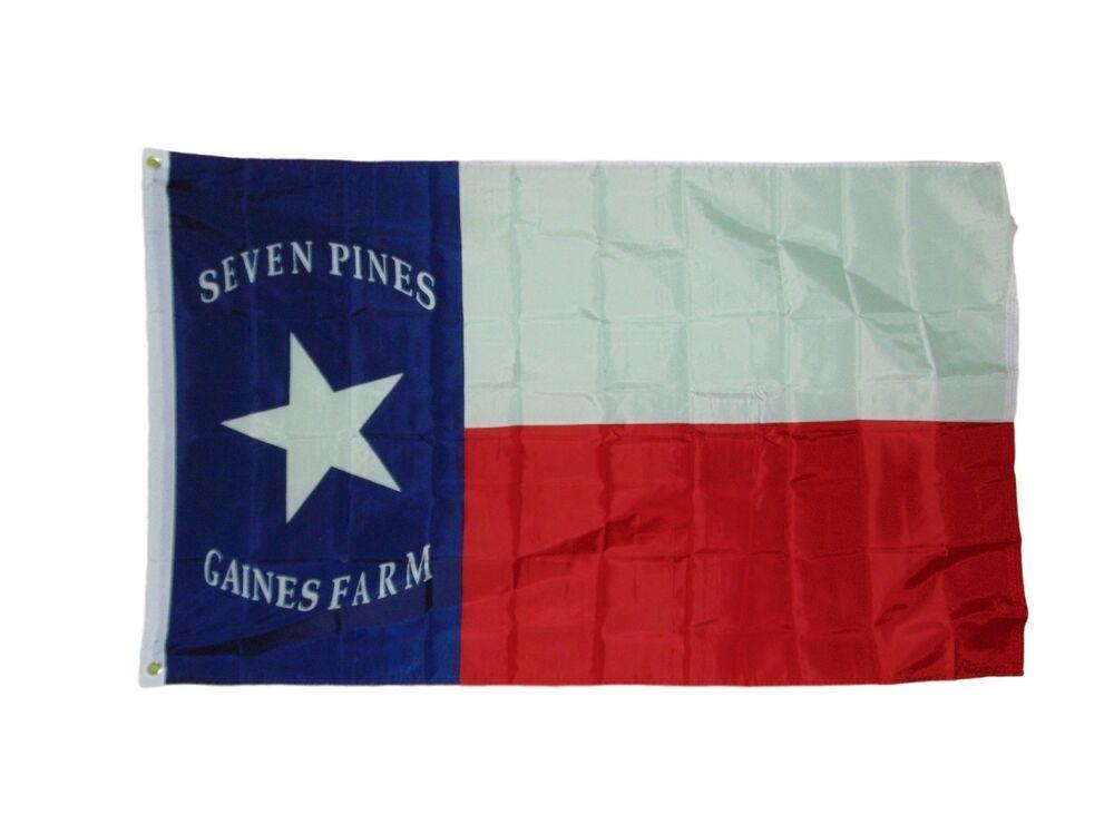 Texas Seven Pines Flag 3 X 5 3x5 Feet Polyester New Hoods Brigade Quarks In 2020 Flag Brigade Ebay