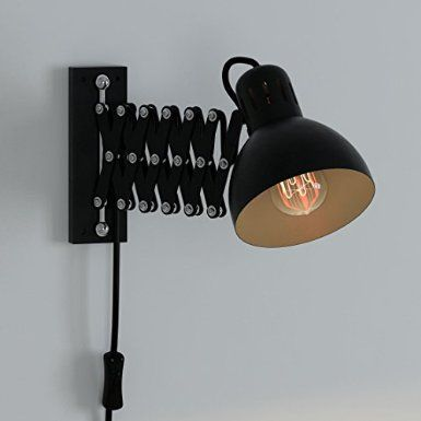 Industrial Look Adjustable Wall Reading Task Multi Purpose Lamp