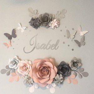 Paper flowers - Fleur en papier - Wedding Paper Flowers - Paper Flower Backdrop- Paper Flower Wall