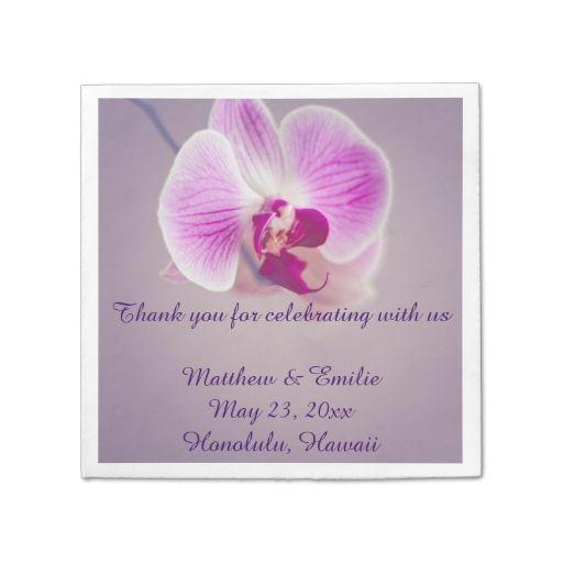 Purple orchid flower paper wedding napkins paper napkin custom purple orchid flower paper wedding napkins paper napkin mightylinksfo