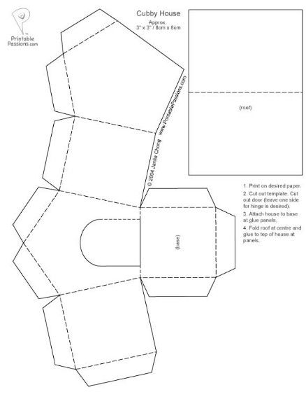 Dog House Template Paper Houses House Template