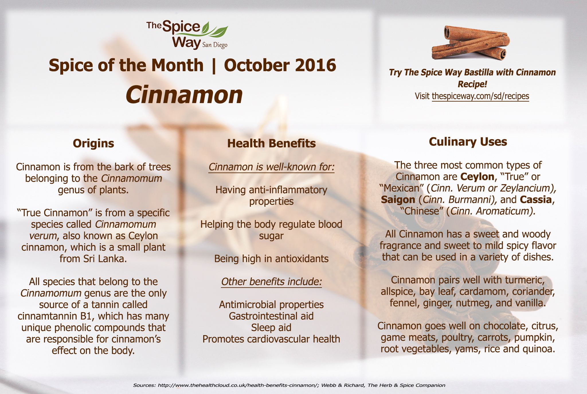 Spice of the Month - Cinnamon