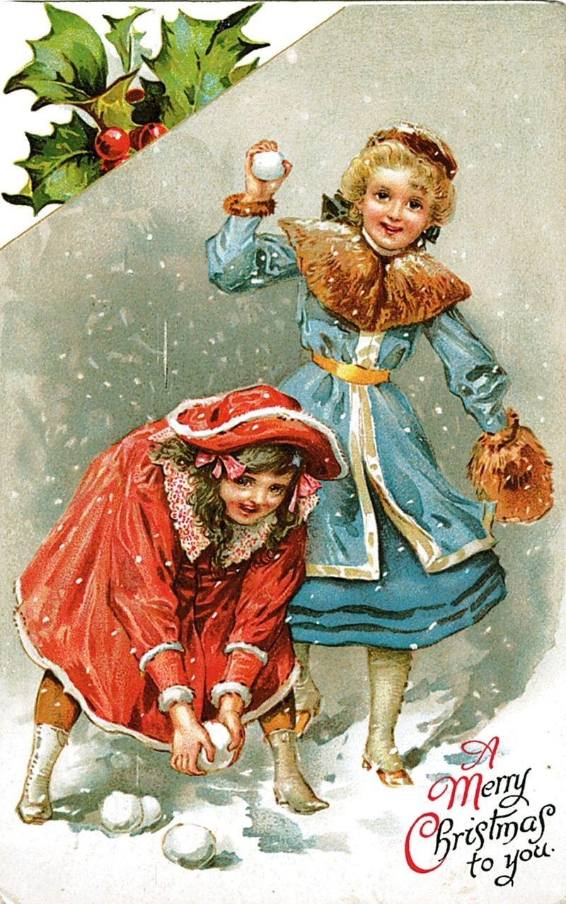 общественные новогодние открытки в стиле ретро мэнсон