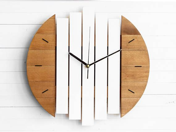 Modern Wall Clock Wall Clock White Clock Round Wall Clock Industrial Clock Wall Wood Clocks Wall Clock Design