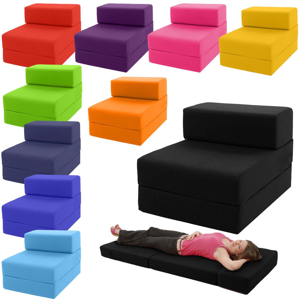 fold away single chair bed potty with tray table z guest out futon sofa chairbed lounger matress foam gilda