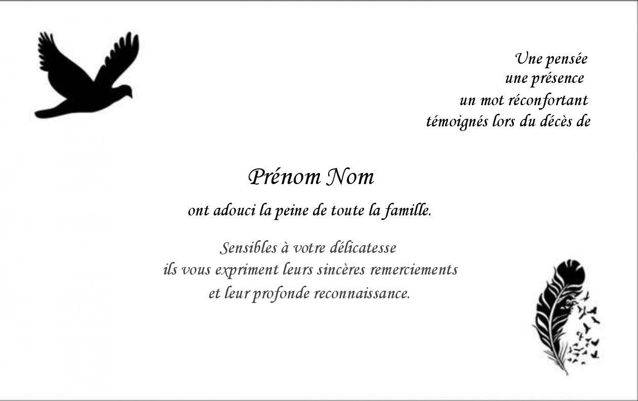 carte de remerciement décès avec photo Carte de Remerciement Décès Gratuit | Modèle Avec Ciel (avec