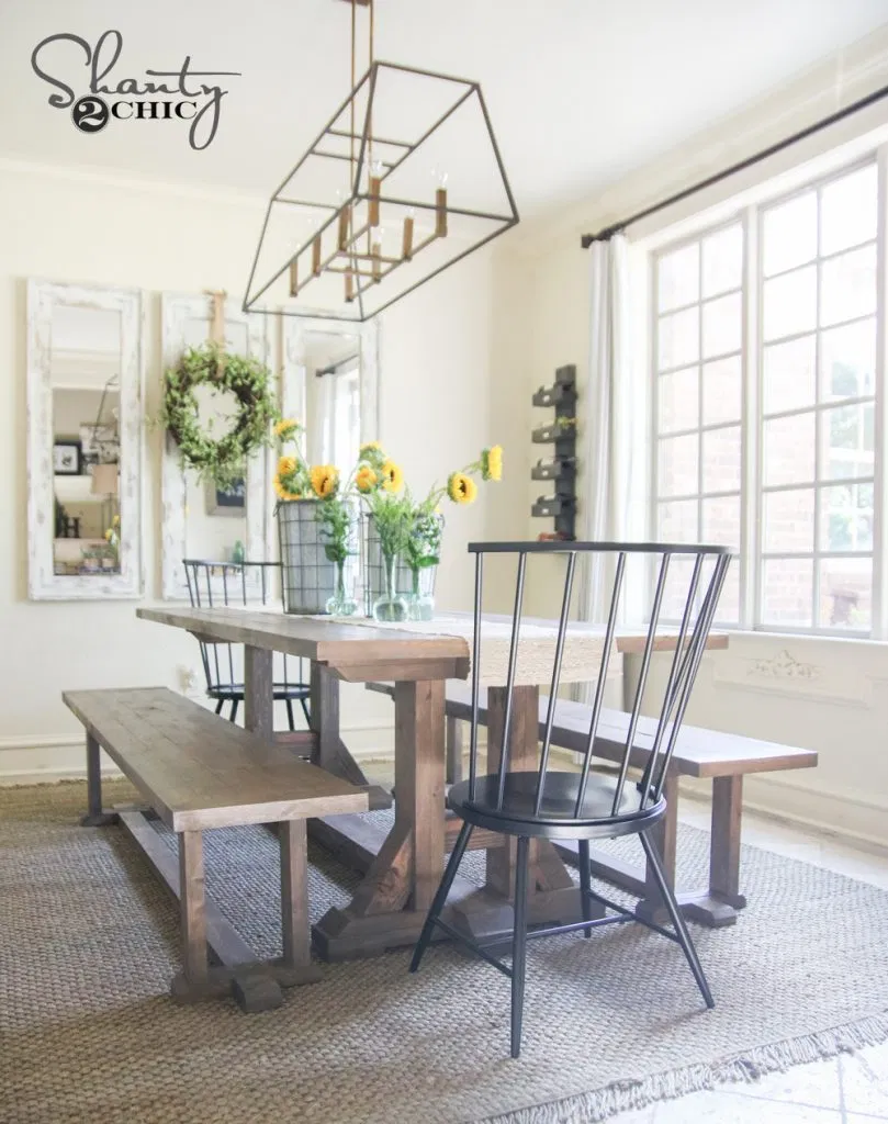 DIY Pottery Barn Inspired Dining Table for 100 in 2020