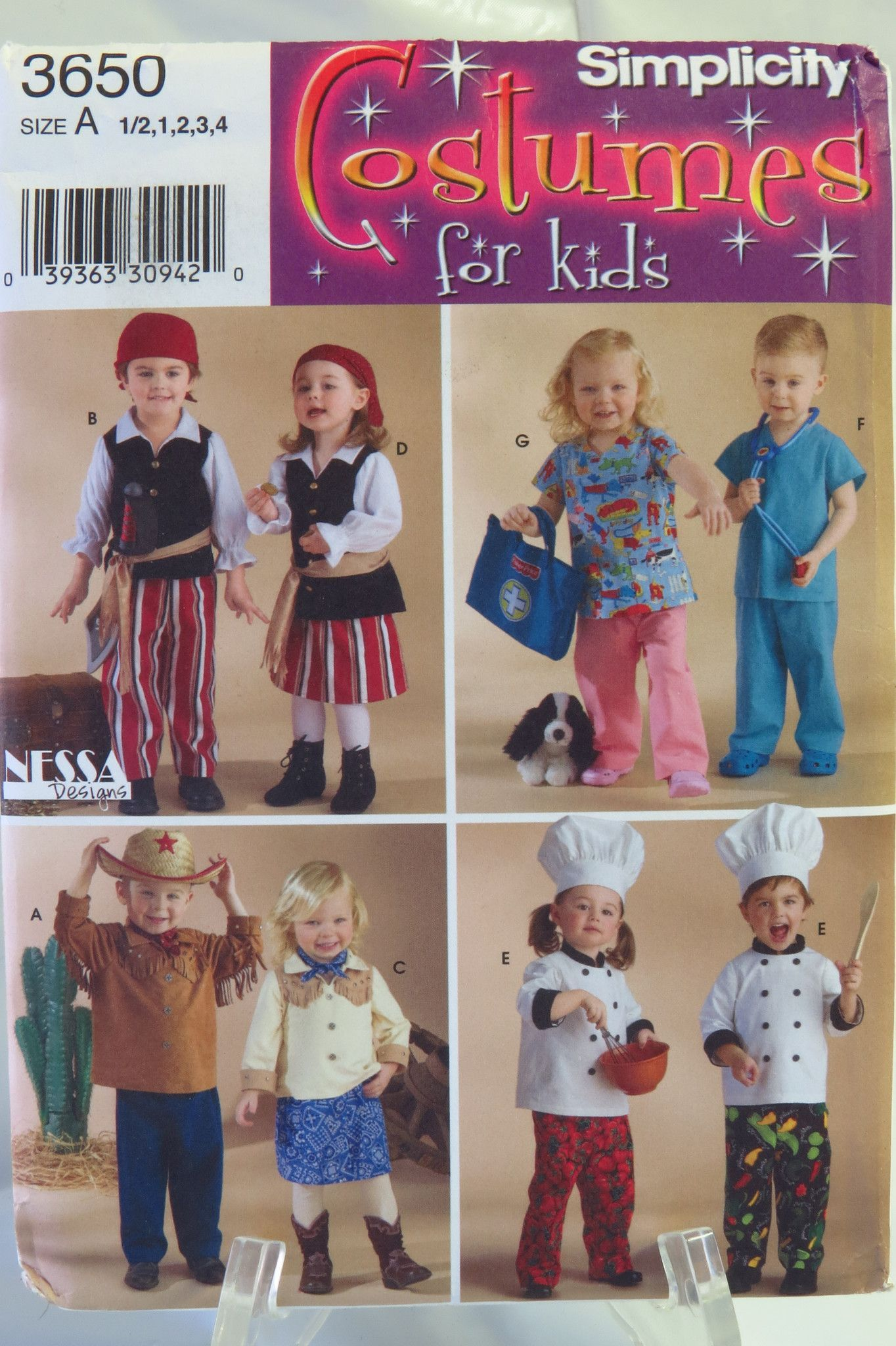 Simplicity 3650 Toddlers' Costumes | More Chef costume and ...