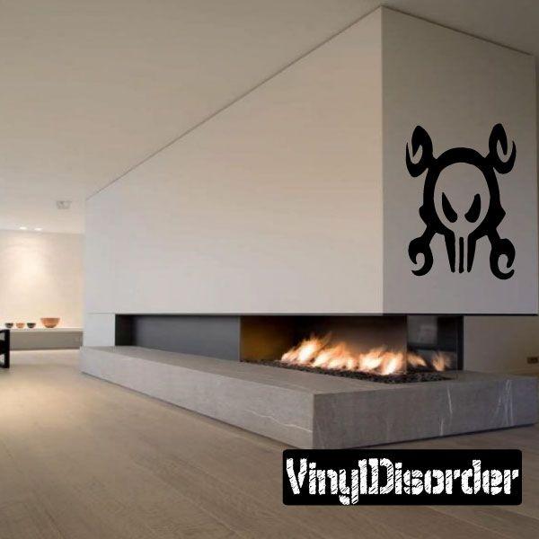 Skull Wall Decal - Vinyl Decal - Car Decal - CF048