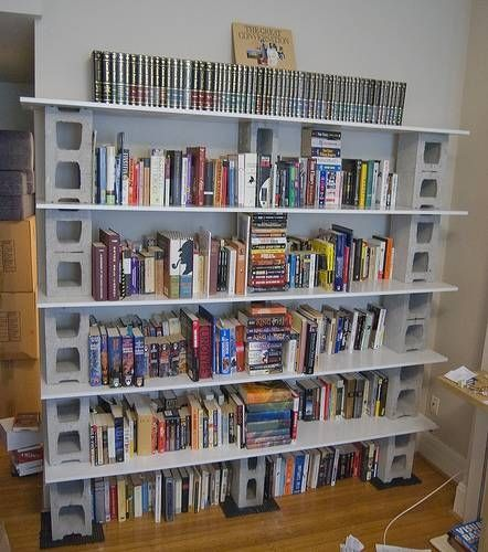 How To Make Bookshelves Cinder Block Shelvescinder