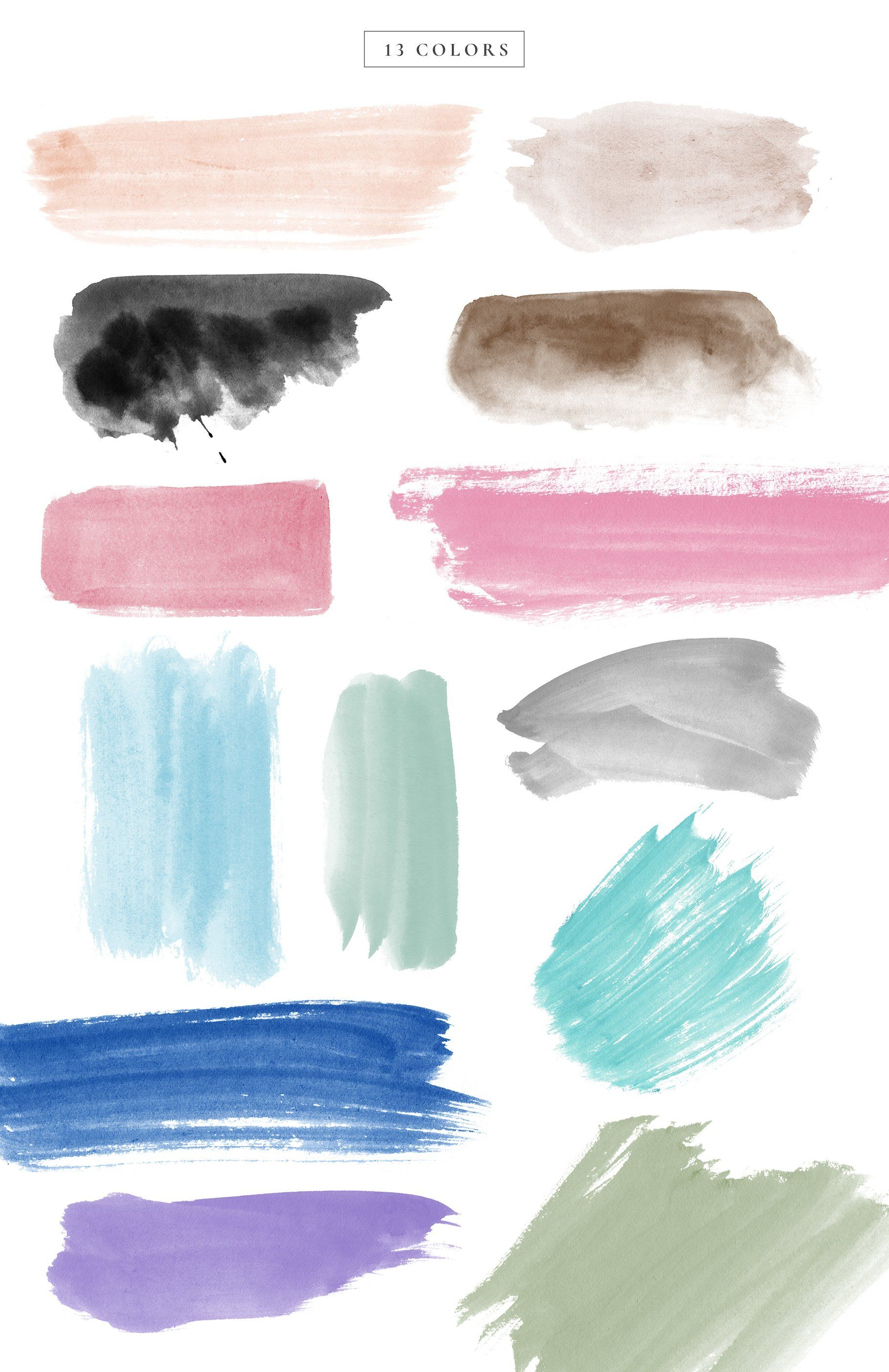 Watercolor Brush Strokes Watercolor Brushes Watercolor Splatter