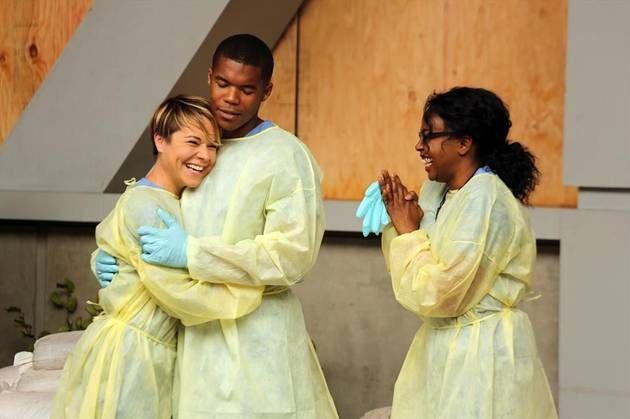 Tina Majorino, Gaius Charles, and Jerrika Hinton Laugh While Filming ...