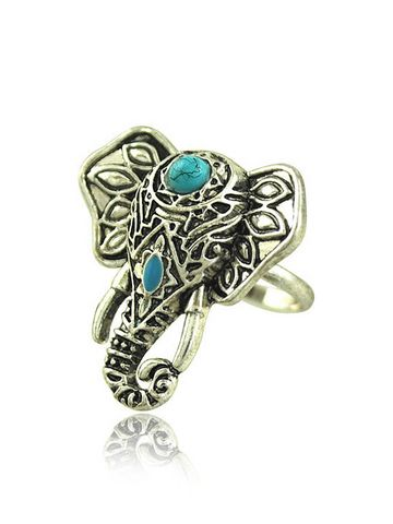 Vintage Turkish Elephant Pattern Ring & Jewelry - at Jollychic