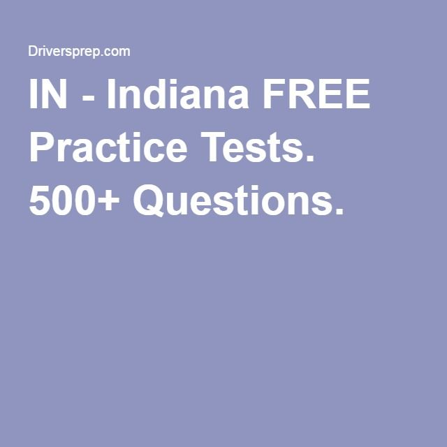 drivers training practice test indiana