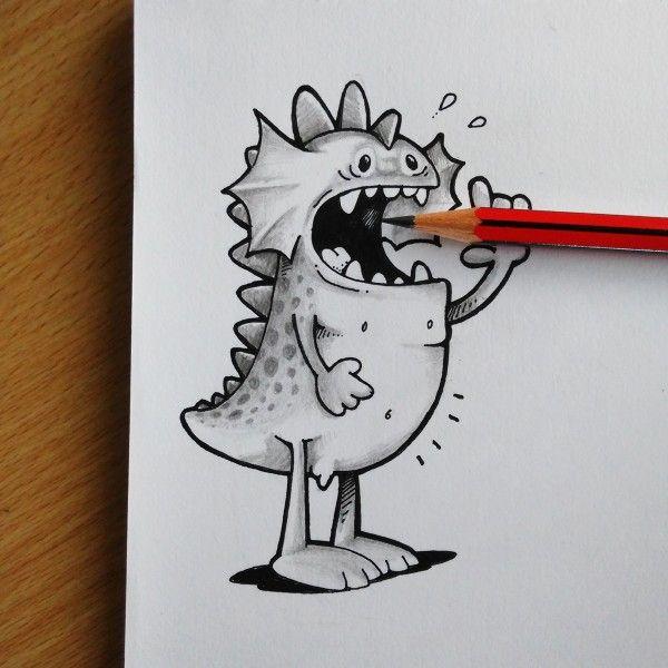 Pin By Daniela Garcia On Dibujos Pinterest Drawing Stuff - Creative comical paper drawings