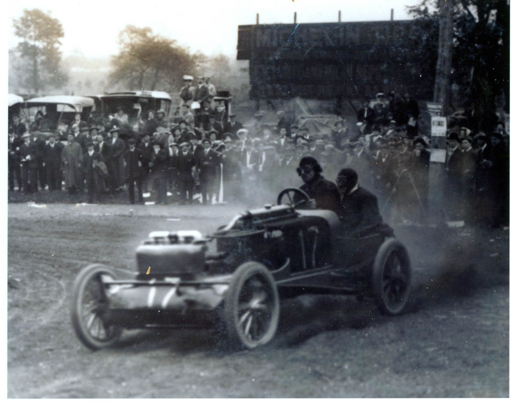 AUTO RACING: Eddie Rickenbacker in Maxwell race car at ...