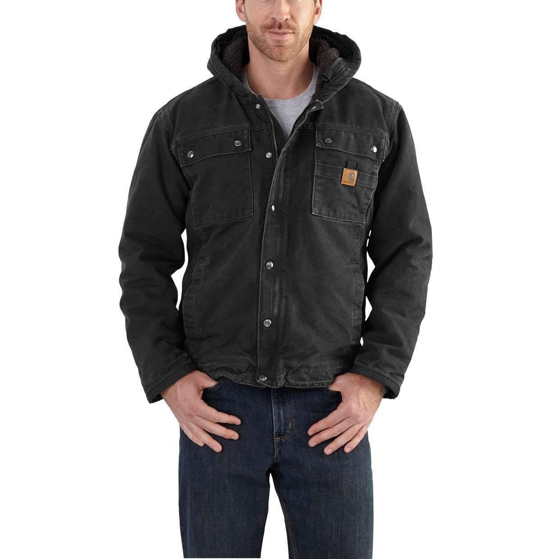 Carhartt Men S Bartlett Jacket 102285 Black Carhartt Workwear Carhartt Jacket Carhartt Mens [ 1240 x 1240 Pixel ]