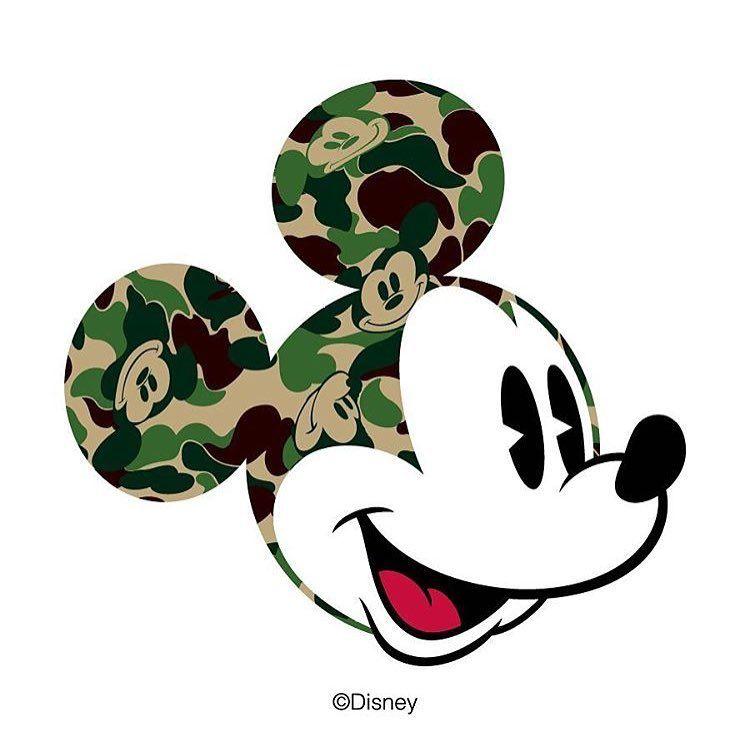 17f00c4f0e9fa Camo Mickey by Bape Japan | Camo Glam in 2019 | Street wear, Urban ...