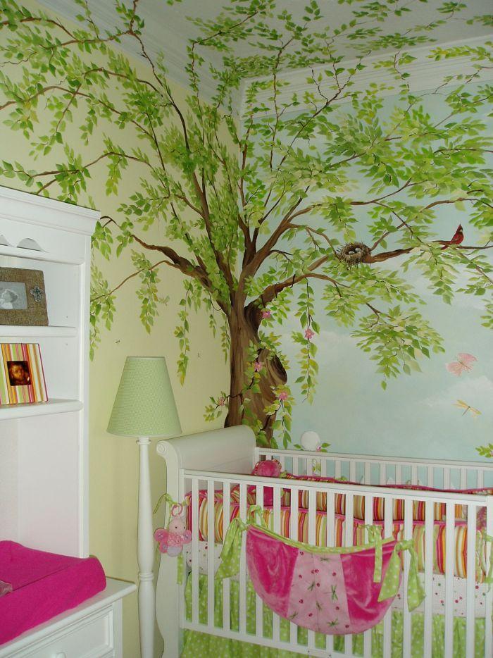 Birds Nest Paint In Girls Room